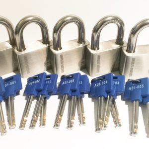 5 x X11 UltraMax Padlocks keyed alike