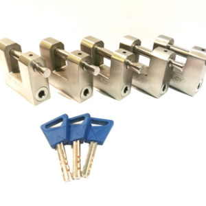 5 x M60 Shipping Container padlocks keyed alike