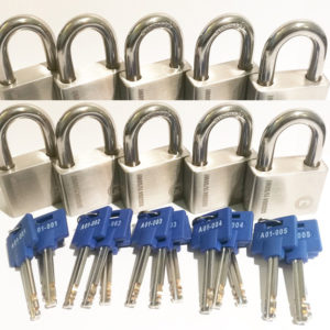 10 x X11 UltraMax Padlocks keyed alike