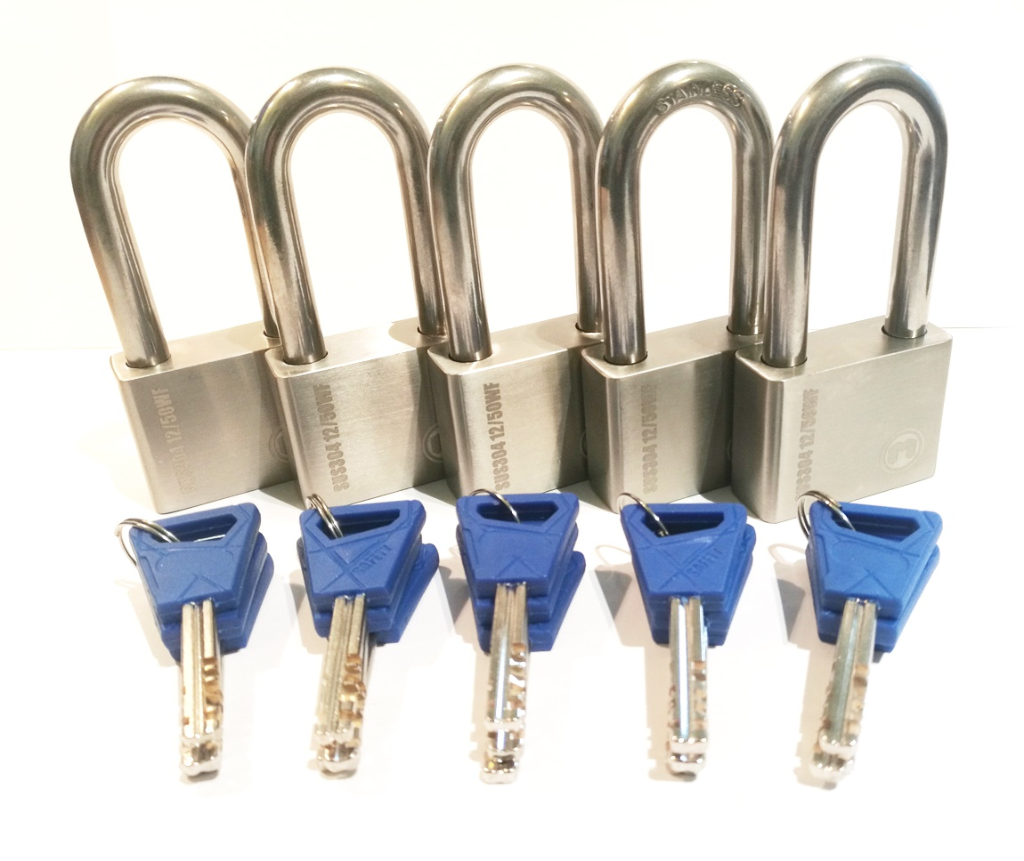 5 x X12 UltraMax padlocks keyed alike