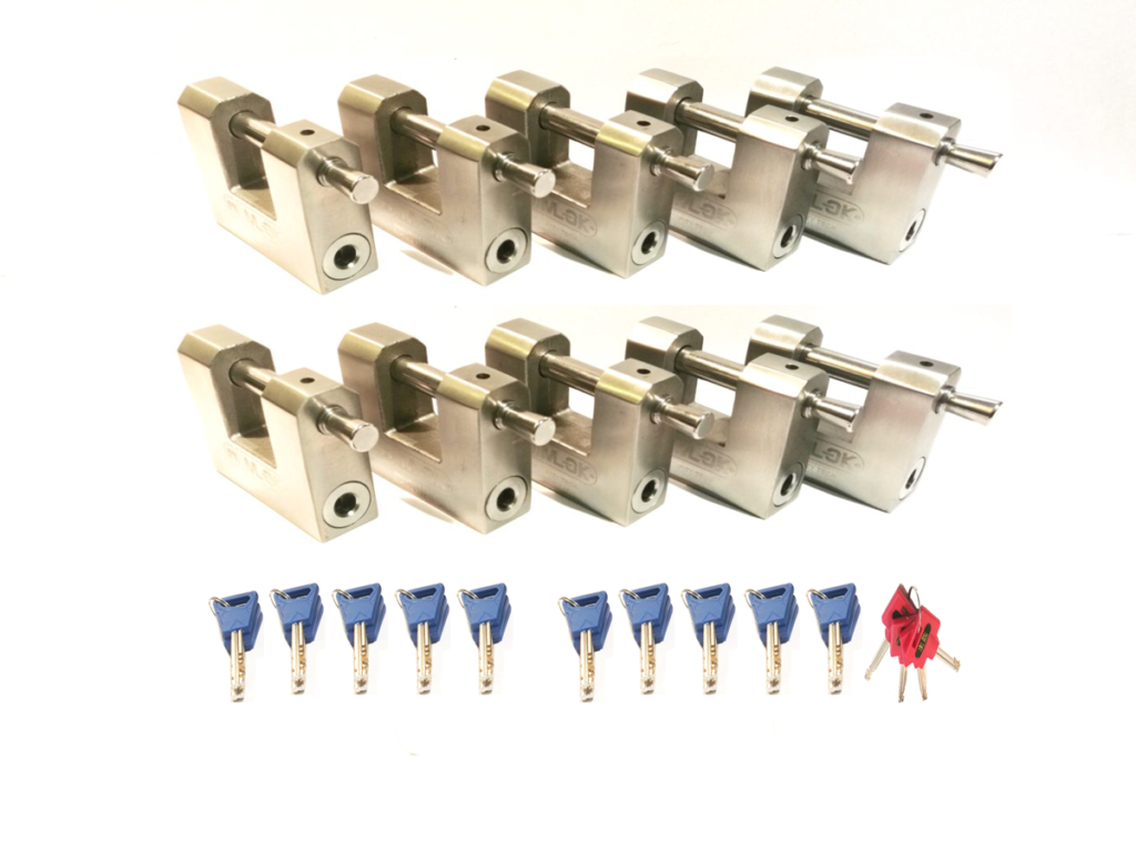 10 x M70 PADLOCKS WITH MASTER KEYS